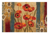 Ikat Floral Tapestry