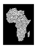 Map of Africa Map  Text Art