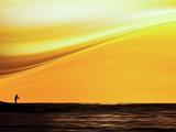 Fishing at Sunset Papier Photo par Josh Adamski