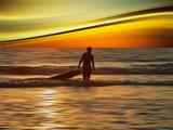 Sunset Surfer Papier Photo par Josh Adamski
