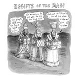 Regifts of the Magi features the three kings in the desert bringing lousy … - New Yorker Cartoon