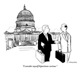 """I consider myself bipartisan-curious"" - New Yorker Cartoon"
