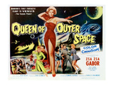 Queen of Outer Space  Center: Zsa Zsa Gabor  1958