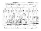"""Emily is very attractive  but Katy has more long-term earning potential"" - New Yorker Cartoon"