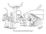 """""""We come to you with unbelievable savings"""" - New Yorker Cartoon"""