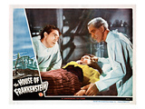 House of Frankenstein  From Left: J Carrol Naish  Elena Verdugo  Boris Karloff  1944