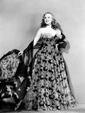 Deanna Durbin in Evening Dress Designed by Howard Greer  1946