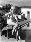 Jean Harlow  Posing in Front of Her Home at 1353 Club View Drive  Beverly Hills  ca 1933