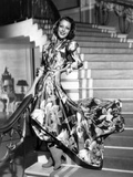 Wife  Doctor and Nurse  Loretta Young  in Floral Taffeta Hostess Pajamas by Gwen Wakeling  1937