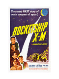 Rocketship X-M  Top: Lloyd Bridges  Bottom Left: Osa Massen  1950