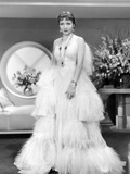 Claudette Colbert  in Gilded Lily  1935  in Travis Banton Gown Trimmed in Vulture Feathers