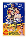 Abbott And Costello Meet the Mummy  Eddie Parker  Bud Abbott  Lou Costello  Marie Windsor  1955