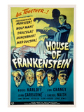 House of Frankenstein  Boris Karloff  Lon Chaney Jr  John Carradine  J Carrol Naish  1944