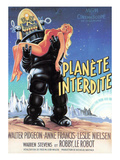Forbidden Planet  Robby the Robot Holding Anne Francis  1956