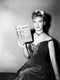 Publicity Shot of Star Joanne Woodward Holding the Bestseller  The Three Faces of Eve  1957
