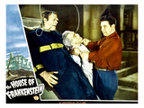 House of Frankenstein  From Left: Glenn Strange  Boris Karloff  Lon Chaney Jr  1944