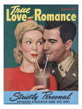 True Love Romance Vintage Magazine - January 1944 - Kodachrome
