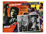 The Curse of Frankenstein  Peter Cushing (Inset)  Christopher Lee  Hazel Court  1957