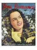 True Romance Vintage Magazine - December 1947 - Cover- Ektachrome