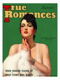True Romances Vintage Magazine - September 1937 - Louise Hovick (Gypsy Rose Lee) Painted