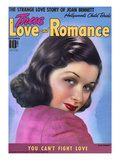 True Love and Romance Vintage Magazine - September 1939 - Joan Bennett