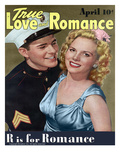 True Love and Romance Vintage Magazine - April 1943 - Cover