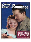 True Love and Romance Vintage Magazine - June 1944 - Natural color Photograph