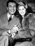 Newlyweds Robert Taylor and Barbara Stanwyck After Their Surprise Elopement  ca 1939