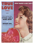 True Love Stories Vintage Magazine - February 1954 - Jeryl Johnson Ektachrome