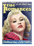 True Romances Vintage Magazine - November 1939 - Bette Grable