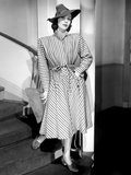 The Doctor Takes a Wife  Loretta Young  in a Navy-And-White Wool Coat by Irene  1940