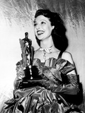 Loretta Young with Her Academy Award for Farmer's Daughter  March 20  1948