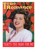 "True Romance Vintage Magazine - December 1944 - Cover Trudy Marshall ""Bon Voyage"""