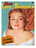 True Love Romance Vintage Magazine - October 1941 - Ellen Drew  Paramount Star