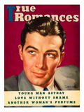 True Romances Vintage Magazine - February 1937 - Robert Taylor MGM Painted