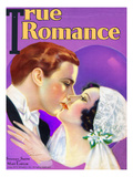 True Romances Vintage Magazine - January 1931 - Stanley Smith And Mary Lawlor  Painted By Jules Can