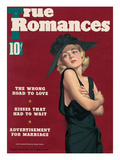 True Romances Vintage Magazine - January 1937 - Carole Lombard painted