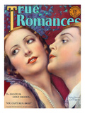 True Romances Vintage Magazine - May 1929 Mary Duncan Charles Morton William Fox Players Painted