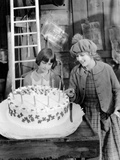 Little Annie Rooney  Mary Pickford  With Niece  Mary Pickford Celebrating Her Birthday On-Set  1925