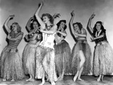 Dance  Girl  Dance  Lucille Ball  1940  Dancing A Hula With The Chorus Girls