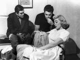 The Killing  Director Stanley Kubrick  Vince Edwards  Marie Windsor On Set  1956