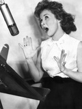 I'Ll Cry Tomorrow  Susan Hayward At Recording Session  1955