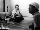 Isuzu Yamada  Director Akira Kurosawa On The Set Of Throne Of Blood  (AKA Kumonosu Jo)  1957