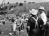Woodstock  Farmer Max Yasgur Looks On As His Grounds Are Used For Woodstock Festival  1970