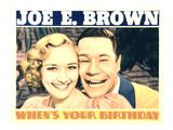 When's Your Birthday  Marian Marsh  Joe E Brown  1937