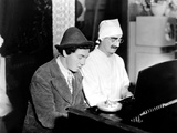 Chico Marx  Groucho Marx At The Piano On The Set Of Duck Soup  1933