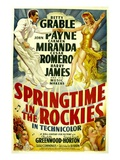 Springtime In The Rockies  Cesar Romero  Betty Grable  Carmen Miranda  John Payne  1942