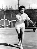Pat And Mike  Katharine Hepburn Playing Tennis On The Set  1952