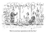 """""""Here's to even lower expectations in the New Year"""" - New Yorker Cartoon"""