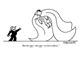 """""""But the cape—the cape—see how it flows"""" - New Yorker Cartoon"""